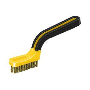 (BB1) Soft Grip Narrow \Brass Stripper Brush, Labelled