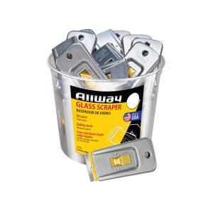 (GS50) Safety Glass Scraper (Labelled w/UPC) 50/Bucket