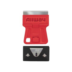 (GSM5) Mini Glass Scraper W/5 Extra Steel Razor Blades, Carded
