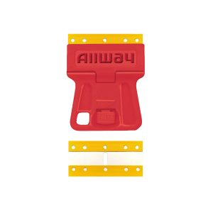 (GSMP5) Mini Scraper W/5 Extra Steel-Core Plastic Blades, Carded