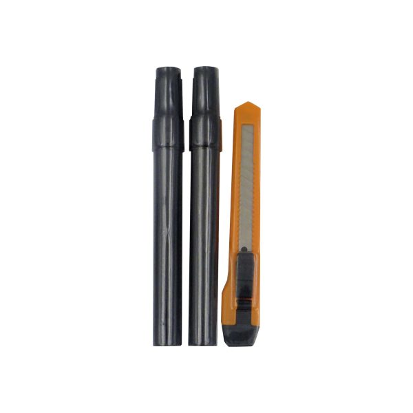 (MARK) Set of Markers and One 9mm Snap Off Knife, Carded