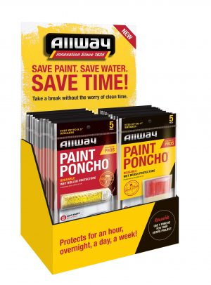 (PON-DISP) Paint Poncho Display with 24 Roller - 24 Brush (48 Pc.)