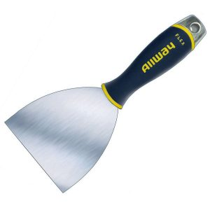 "(DSX4F) 4"" Flex, Soft Grip, Tape Knife, Hammer End, Carbon Bl, Labelled"