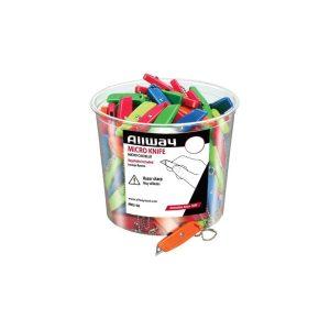 (MK3-50) Neon, Lexan Micro Knife, W/1 Blade, 50/Bucket, Bagged
