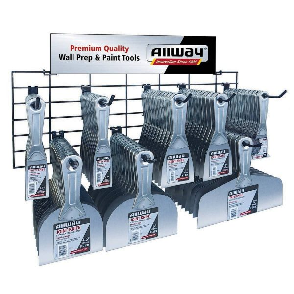 (PW8) T-Line Putty Knife & Scraper Merchandiser - (80 Pc.)