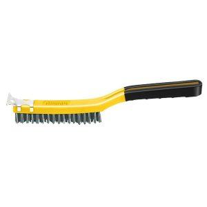 (SB319/SS) 3 x 19 Soft Grip Stainless Wire Brush W/Scraper, Labelled
