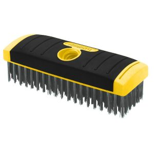 (SB619) 6x19 SG Carbon Steel Wire Brush- Scrub Brush Block, Labelled