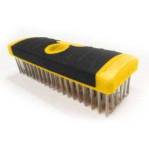 (SB619/SS) 6 x19 SG Stainless Wire Brush-Scrub Brush Block, Labelled