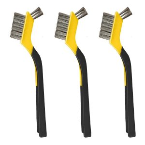 (SMB3) Stainless Mini Brush, Soft Grip, 3 Pack, Carded