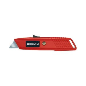 (SSK) Metal Self-Retracting Safety Knife w/3 Blades, Carded